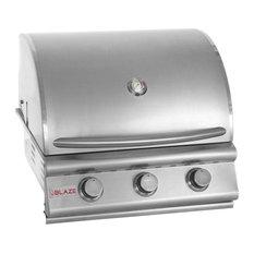 """Blaze 25"""" 3-Burner Built-In Natural Gas Grill"""
