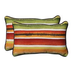 Dina Noir Rectangular Throw Pillow, Set of 2, 18.5x11.5x5