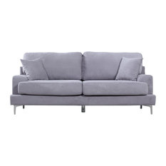 Elegant Divano Roma Furniture   Helda Sofa, Gray   Sofas