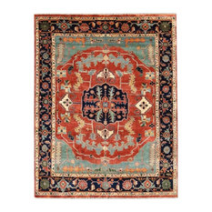 Karim Antique-Style Weave Serapi Rug, Rust and Navy, 8'x10'