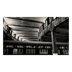 Savannah & Atlanta Train Roundhouse GA Fine Art Black and White Photography, 12x