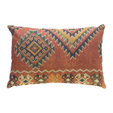 "Orange Global Linen Pillow, 18""x12"""