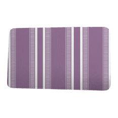 """Upscale Getaway Dashing Stripe Stripe Print Bath Mat, Purple, 24""""x36"""""""