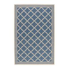 La Concha Blue Multipurpose Indoor/Outdoor Rug, 121x182 cm