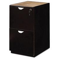 Mira Series File/File Credenza Pedestal, 15W X 22D X 27H, Espresso