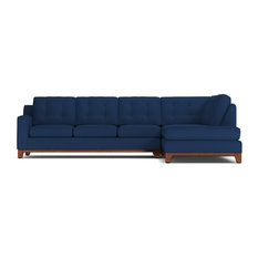 Brentwood 2-Piece Sectional Sofa, Cobalt Velvet, Chaise on Right