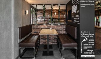 Agencement Design métallique pour le Café des sports à Rumilly