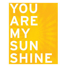 You Are My Sunshine, archival print (sunshine yellow)