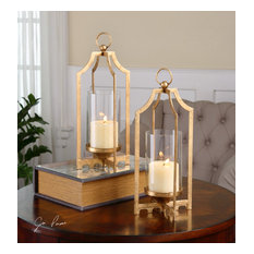Uttermost Lucy Candleholders, Set of 2, Gold