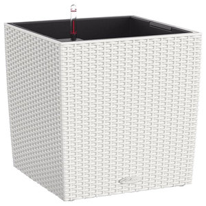 Cube Cottage Self Watering Planter, 40x40x40 CM, White
