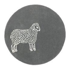 Sheep Wool Round Rug
