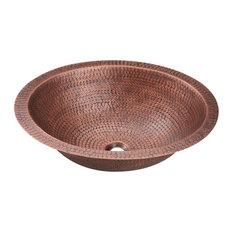 P019 Single Bowl Oval Copper Sink