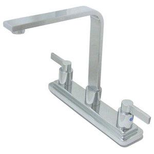 Polished Chrome Double Handle High Rise Spout Kitchen Faucet KB8791NDLLS