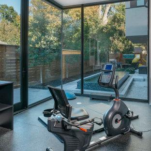 Moderner Fitnessraum in Houston