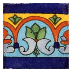 2x2 36 pcs Aqua Border Talavera Mexican Tile