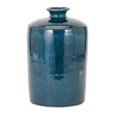 Imax 13309 Arlo Blue Clay Medium Vase
