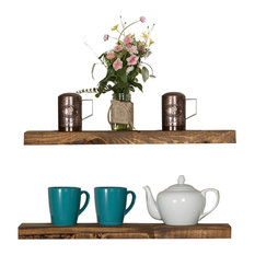 delhutson designs true floating shelves set of 2 dark walnut display and
