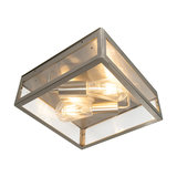 Modern Square Outdoor Ceiling Lamp 2 Steel - Rotterdam