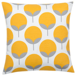 Vintage Contemporary Outdoor Cushions And Pillows Caroline Sunshine Pillow Cover Yellow and Gray