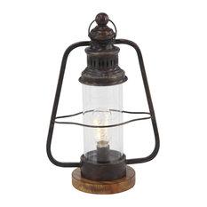 Industrial Brown Metal Electric Lantern
