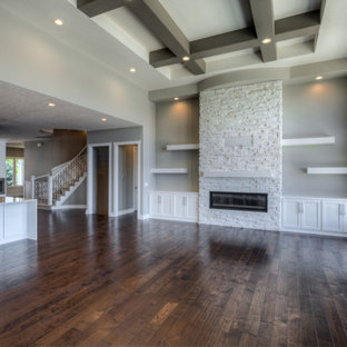 Inspiration for a modern home design remodel in Omaha