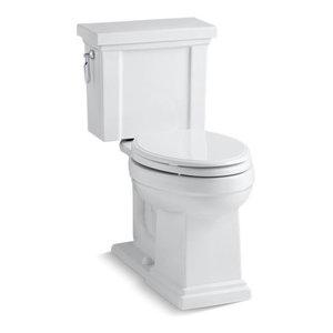 Kohler Tresham 2-Piece Elongated 1.28 GPF Toilet w/ Left-Hand Lever, White