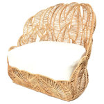 Jo-Liza International - Sierra Chair - fern designed club chair in natural seagrass with ivroy can vas cushions