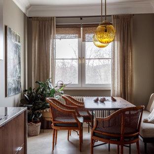 Пример оригинального дизайна: столовая в стиле современная классика
