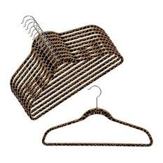 """Slim-Line Printed """"Cheetah"""" Shirt or Pant Hanger, Set of 20"""