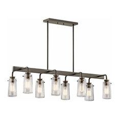 Braelyn Linear Chandelier 8-Light, Olde Bronze