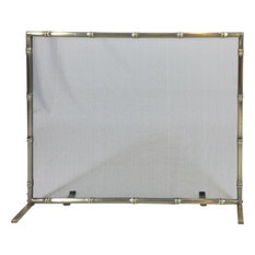 Dagan S452 Panel Screen With Antique Brass Bamboo Design
