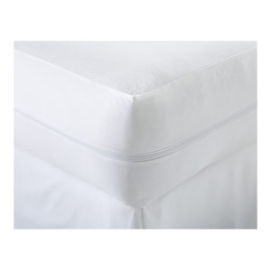 Home Collection Liquid and Bed Bug Proof Total Mattress Encasement, Twin, White