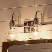 Luxury Vintage Bath Vanity Light, Columbus Series, Polished Chrome