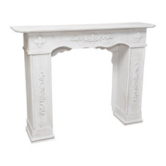 White Decapé Limewood Fireplace Surround