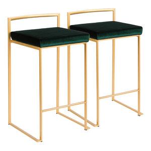 Demi Black Velvet Dining Chair Set Of 2 Contemporary