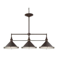 Langley 3-Light Island Fixture, Burnished Bronze