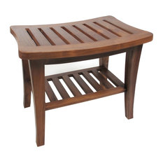 "Redmon 5323 20""x17.5""x13.5"" Genuine Teak Bench, Teak"
