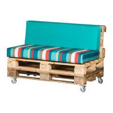 Pallet Love Seat, Multicolour Stripes