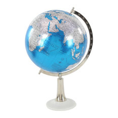 Eclectic Marble and Plastic Globe, Blue