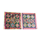 "Mogulinterior - Ethnic Silk Cushion Cover Vintage Sari Border Patchwork Square Pillow Cases 16"" - Pillowcases and Shams"