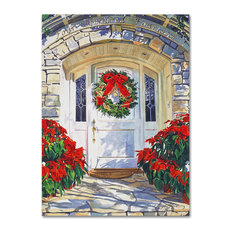 "David Lloyd Glover 'Poinsettia House' Canvas Art, 35""x47"""