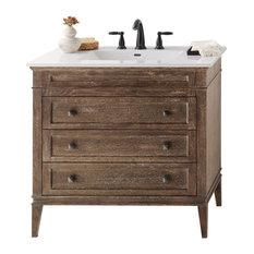 "Ronbow Corporation - Ronbow Laurel Solid Wood 36"" Vanity Set With Ceramic Sink Top - Bathroom Vanities and Sink Consoles"