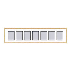 Gold Collage Picture Frame with 7 rectangle openings for 6X8 photos