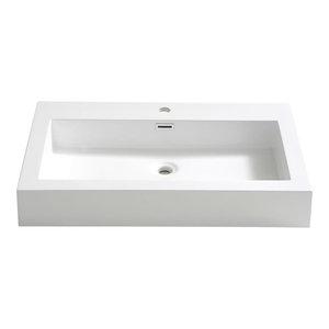 "Livello 30"" Integrated Sink/Countertop, White"