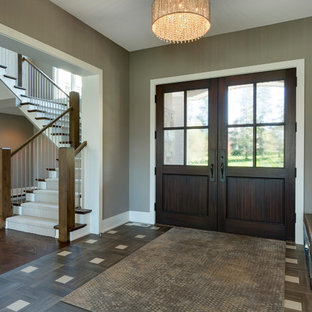 Example of a trendy home design design in Minneapolis