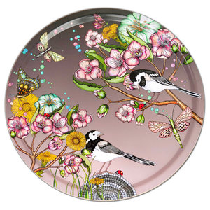 Wagtails Spring Rose Tray, 46 cm