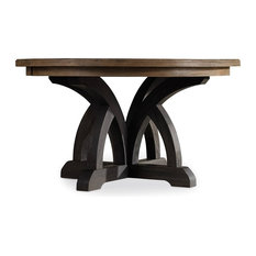 Hooker Furniture   Hooker Furniture Corsica Round Dining Table, Dark With  Light Top   Dining