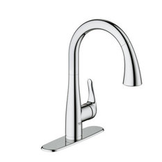 grohe grohe pulldown kitchen faucet w silkmove cartridge u0026 locking spray - Grohe Kitchen Faucets
