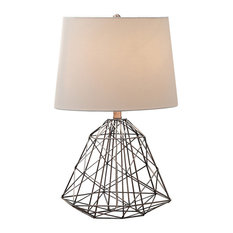 Aviary Table Lamp, Antique Copper