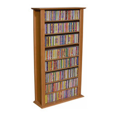 venture horizons store media storage tower regular single cherry media racks and - Dvd Storage Cabinet